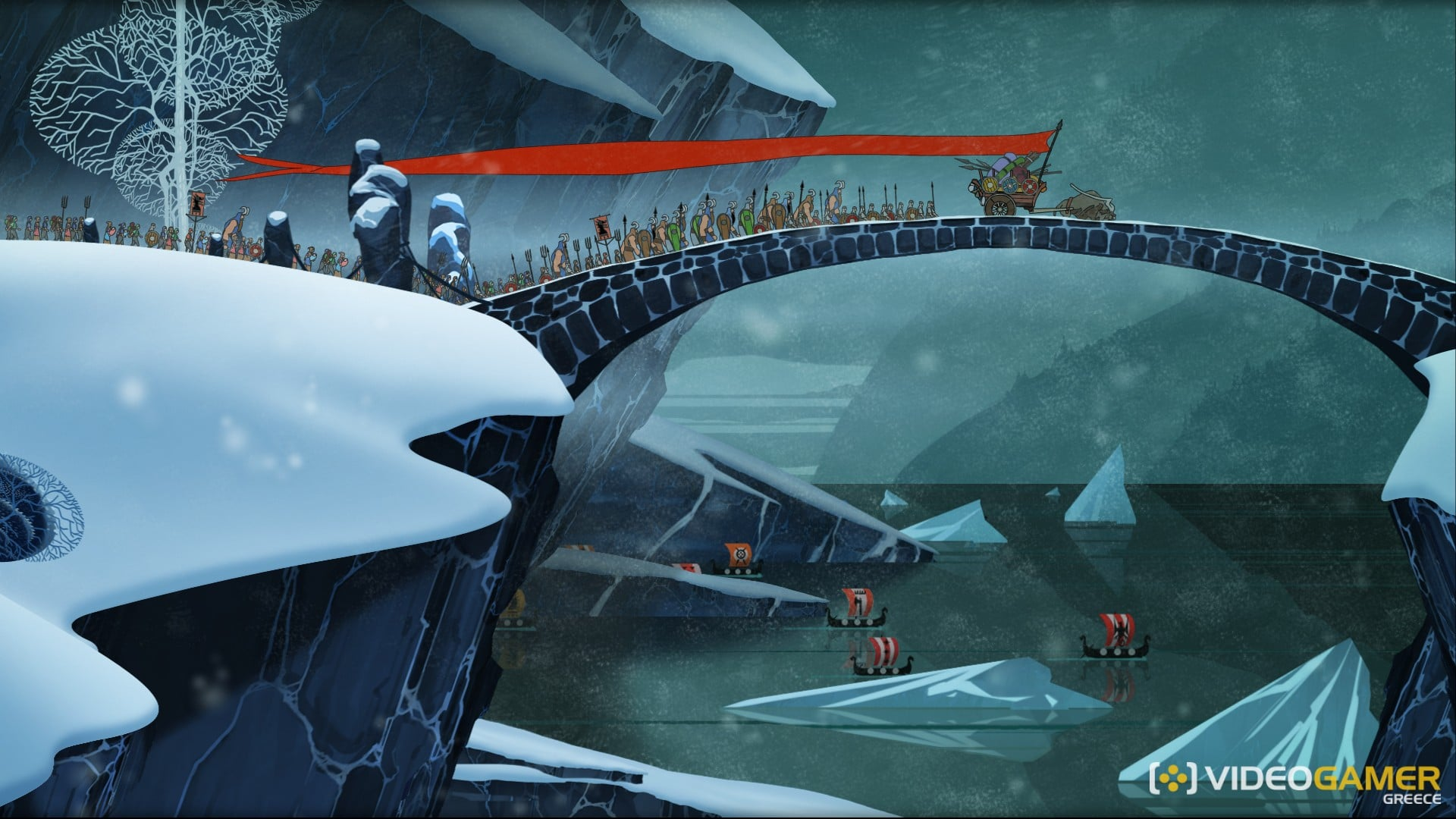 The_Banner_Saga,_Travel_Bridge_screenshot