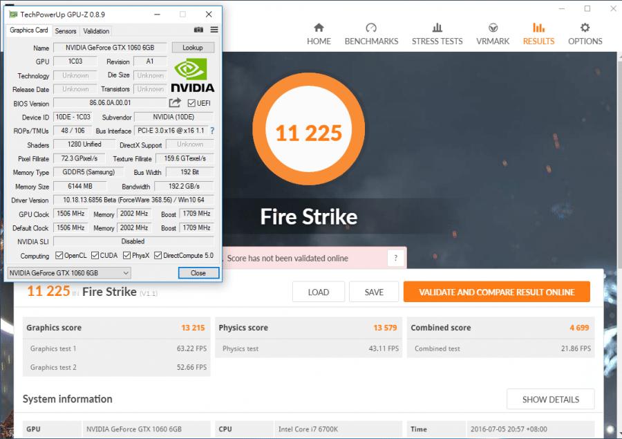 nvidia geforce gtx 1060 διέρρευσαν benchmarks