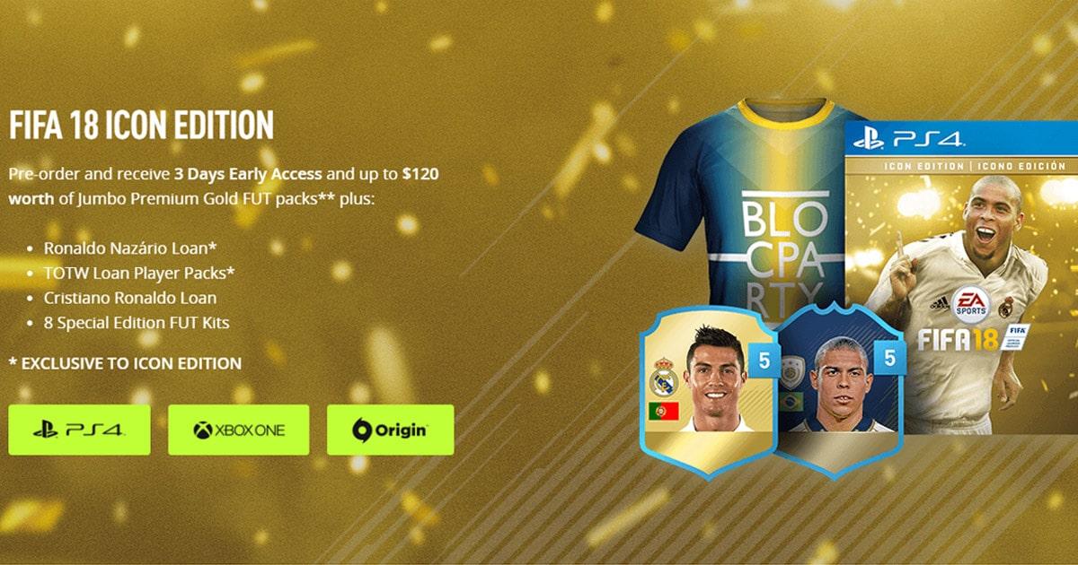 FIFA 18 ronaldo icon προπαραγγελία